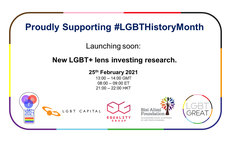 The webinar takes place to celebrate LGBT History Month