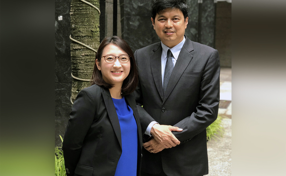 Pruksa Iamthongthong (left) and Adrian Lim
