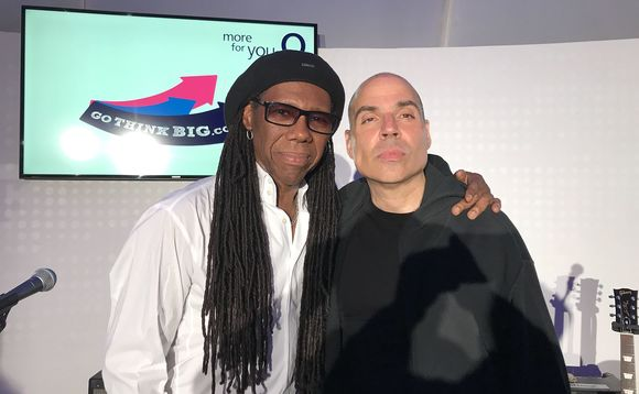 Founder Merck Mercuriadis (right) pictured with musician Nile Rodgers