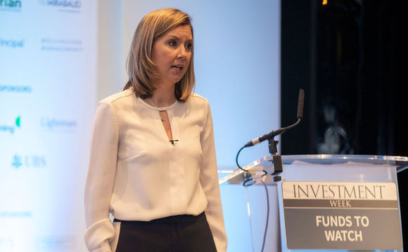 Karen Ward speaking at Investment Week's Funds To Watch Conference