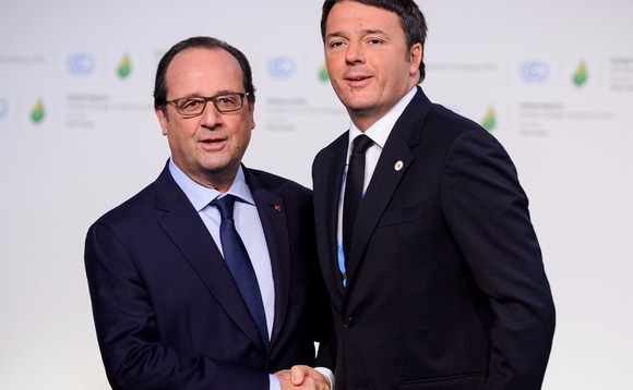 Hollande (left) and Renzi hope talks would improve co-operation among EU member states
