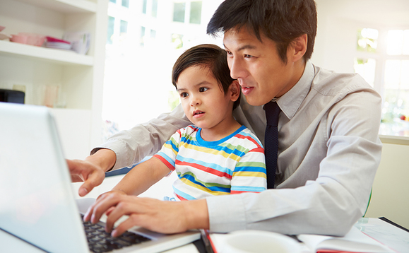 Managers share their experiences of working from home with children