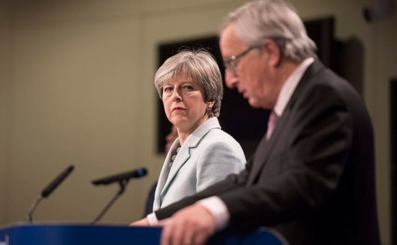 Theresa May and President of the European Commission Jean Claude Juncker