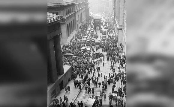 Wall Street in 1929, immediately after the Crash