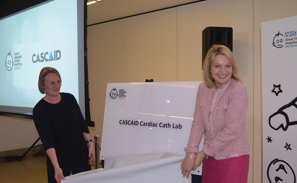 Louise Parkes (left) of the GOSH Children's Charity and CASCAID's Helen Wagstaff
