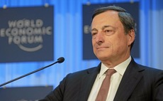 Euro rallies as Draghi disappoints